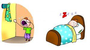 rutinas antes de dormir para niños con tea