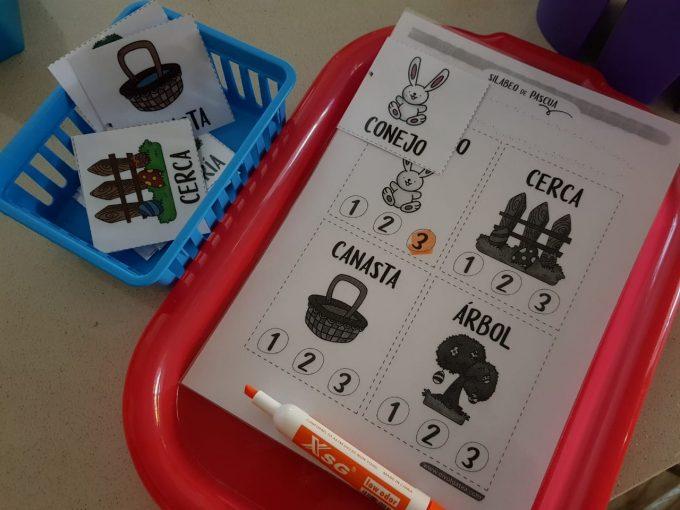 actividad para niños con tea en pascua