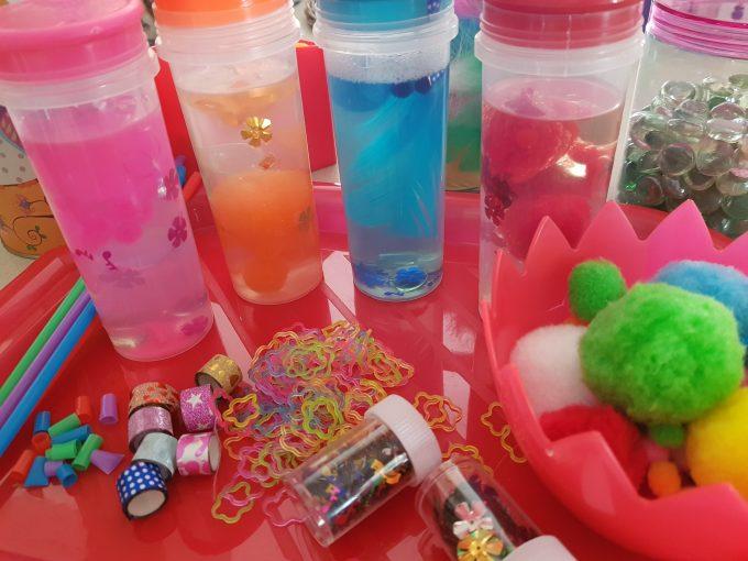 botellas sensoriales color